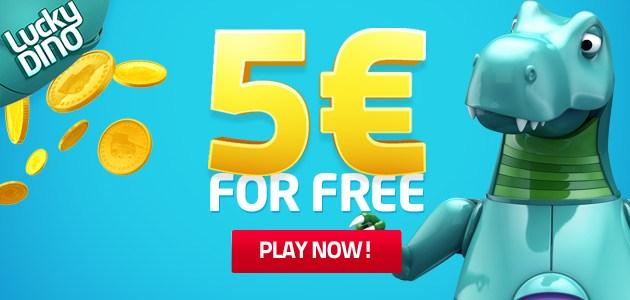 Lucky Dino 5 euro gratis casino bonus