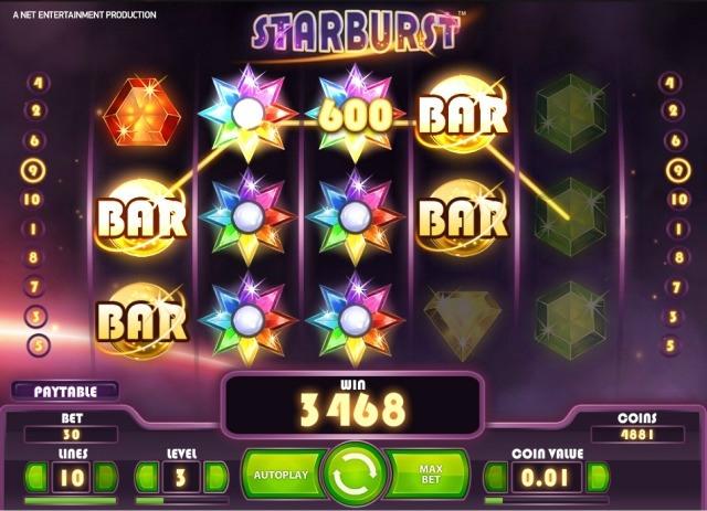 Starburst gratis spins bonus