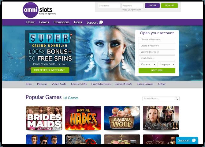 Omni Slots casino recensie
