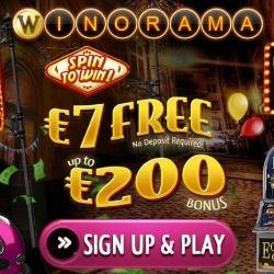 Winorama 7 euro bonus zonder storting