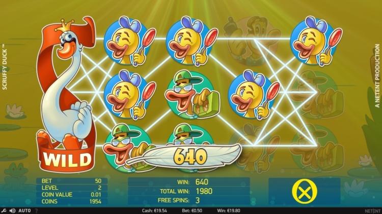 Scruffy Duck gokkast netent bonus win