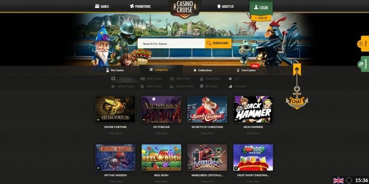 Casino Cruise gratis spins Starburst
