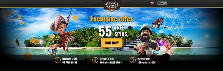 Casino cruise 55 gratis spins starburst zonder storting