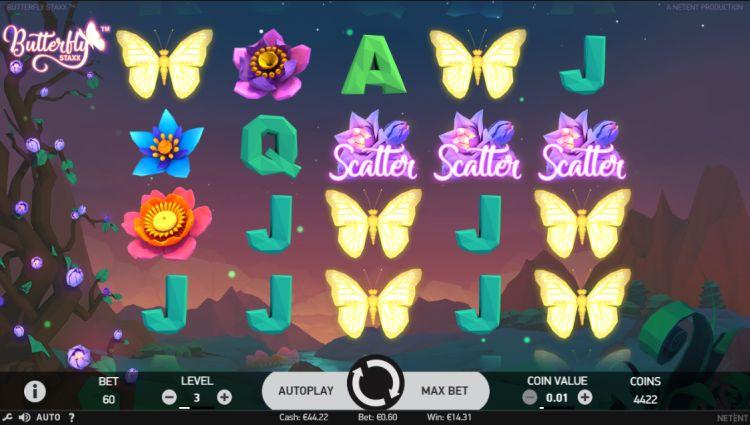Butterfly Staxx bonus trigger
