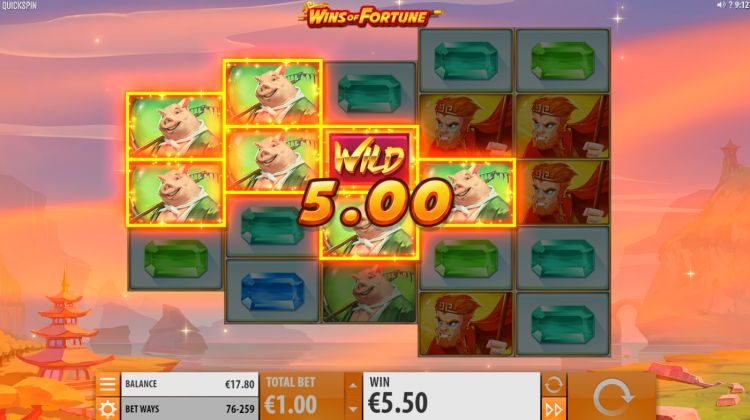 Wins of Fortune gokkast quickspin basisspel