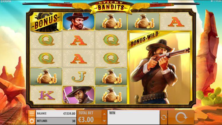 Sticky Bandits bonus trigger