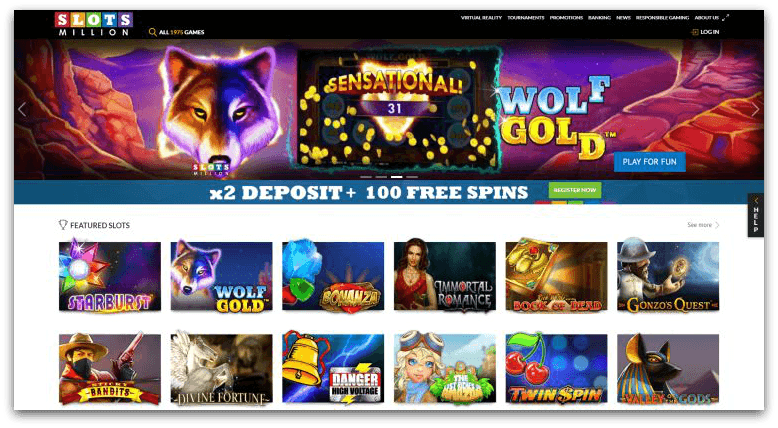 slots million heeft de meeste slots